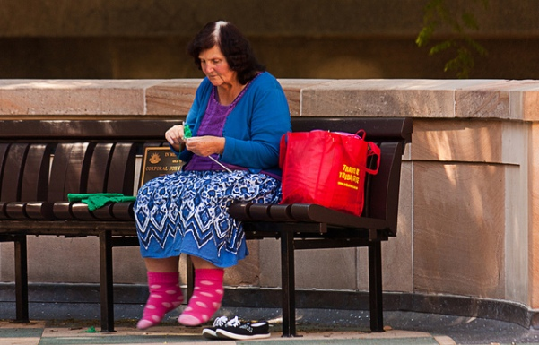 knitting woman 2
