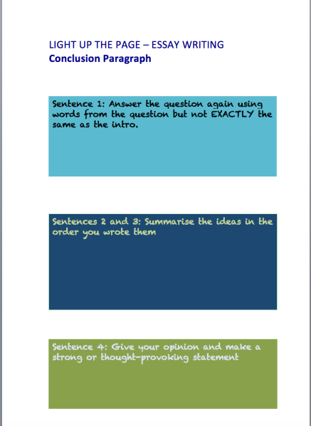 Screen Shot conclusion template