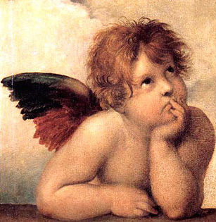 sistine madonna detail angel
